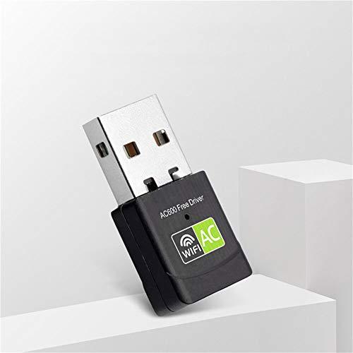 CFSN Dispositivos innovables de 600Mbps Desconecte el Controlador Desconfiable USB Adaptador de Tarjeta de Red inalámbrico Receptor WiFi 2. 4G 5G Banda Dual LAN USB Receptor de dongle WiFi 0909