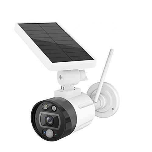 Cámara de vigilancia solar, cámara de vigilancia inalámbrica WiFi para exteriores con detección de movimiento, visión nocturna, cámara Wifi a batería, batería incorporada, IP66 a prueba de agua