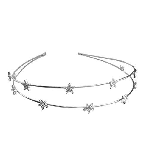FRCOLOR Diadema de Estrella Corona de Tiara de Diamantes de Imitación de...