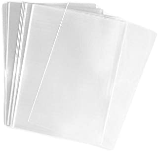 TOPWEL Clear Flat Cello Treat Bag 11x14 Inch, Pack of 100