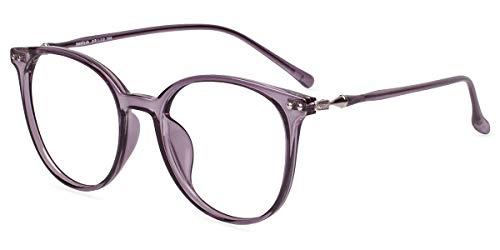 Firmoo Occhiali Luce Blu Bloccanti per il Mal di Testa il Blocco della Cefalea UV, Occhiali da Computer per Unisex (Viola)