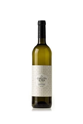 Carlota Suria Organic Chardonnay Fermentado en Barrica 2019 - Vino blanco ecológico - Caja de 6 botellas x 750mL