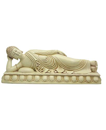 Reclining Buddha Statue in Stone Finish