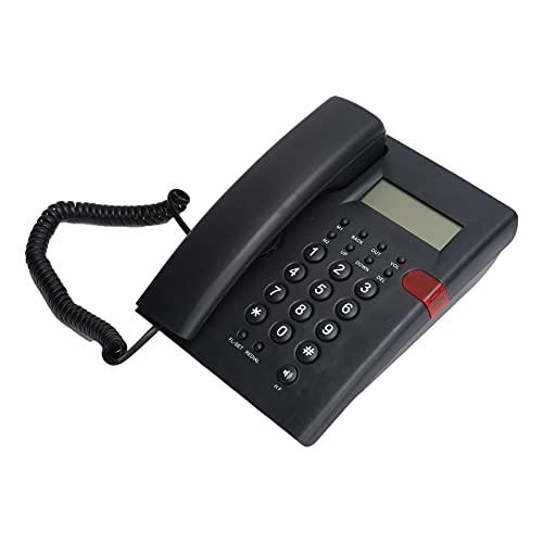 Annadue Teléfono Fijo, teléfono con Cable, teléfono con Cable, con función de grabadora/calculadora de Voz con Altavoz, para Hotel de Oficina Familiar.