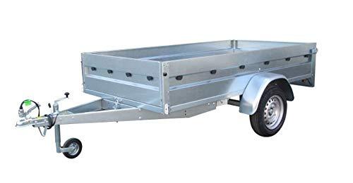 ERKA Remolque Coche Acero galvanizado de 2,00x1,34m con