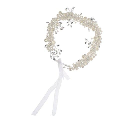 MagiDeal Mädchen Blume Perlen Stirnband Kopfstück Haarschmuck Kostüm - Perlen #1