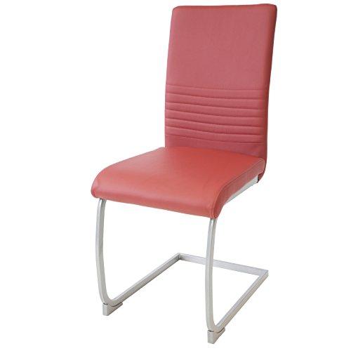 Albatros Silla Cantilever Murano Set de 4 sillas Rojo, SGS Probado