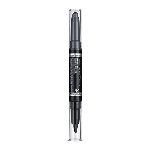 Manhattan Eyemazing Double Effect Eyeshadow & Liner – Schwarzer 2-in-1 Lidschatten & Eyeliner Stift zum Drehen – Farbe 001 In The Black – 1 x 1.6g