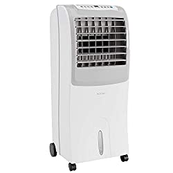top rated HOmeLabs Evaporative Cooler is a portable fan with 3 wind modes, 3 speeds, a timer and a humidifier. 2021