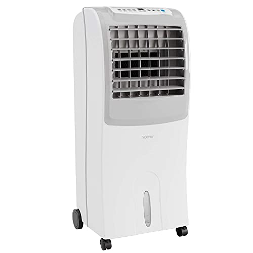 hOmeLabs Evaporative Cooler - Cooling Fan with 3 Wind Modes, 3 Speeds, Timer, Humidifier and Auto Shut Off Function - with 10 Liter Ice Water Tank Capacity - Cools Room up to 200 Square Feet