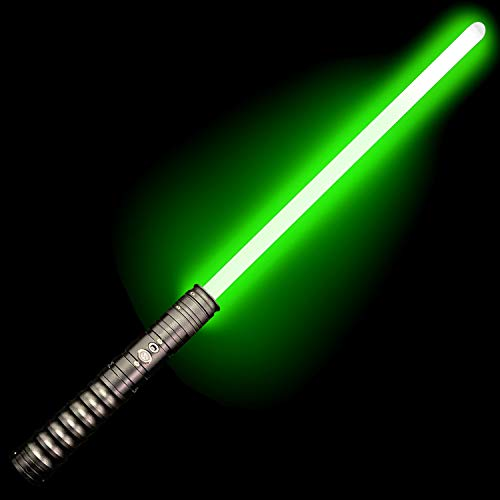 Adawlert Metal Hilt Light Saber Rechargeable Heavy Force FX Lightsaber Dueling Light Sabers with Lights and Sound (Gun)