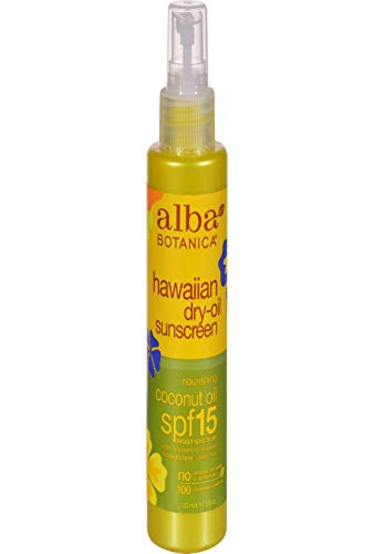 Alba Botanica Coconut Oil Hawaiian Dry Oil SPF 15 Sunscreen, 4.5 oz.
