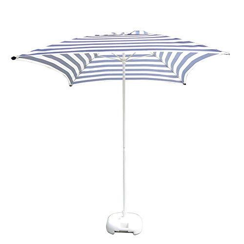 LY88 parasols 6,6 inch / 2 m zijde, tuintafel voor terras, voor tuin, zakenmarkt, strand, zwembad, strepen