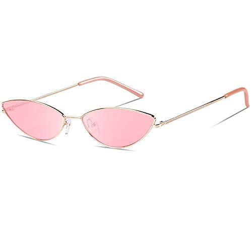 DUCO Trendy Cool Stylish Vintage Cateye Polarisierte Sonnenbrille für Frauen UV400 Schutz W019 (Gold Pulver)