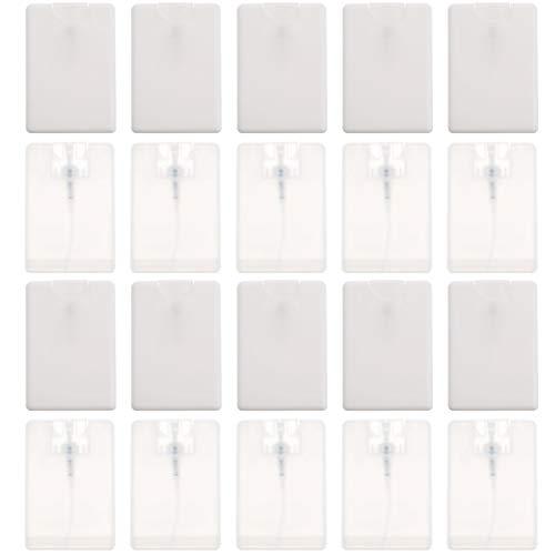 Luxshiny 20Pcs 20Ml Botellas de Rociador de Crédito Vacías Recipientes de Rociado de Niebla Fina Recargables Caja de Rociador Humectante Portátil (Color Aleatorio)