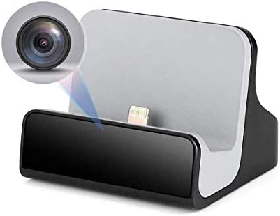 Hidden Spy Nanny Camera iPhone Charger Dock Cam with Night Vision for Home Security Camera WiFi product image
