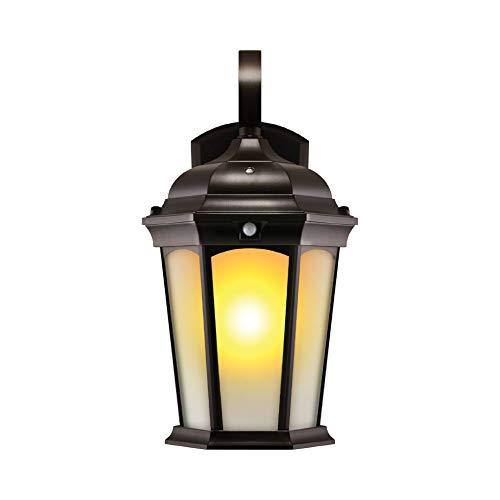 Euri Lighting EFL-130F-MD Flickering Flame Lantern, Frosted Glass,...