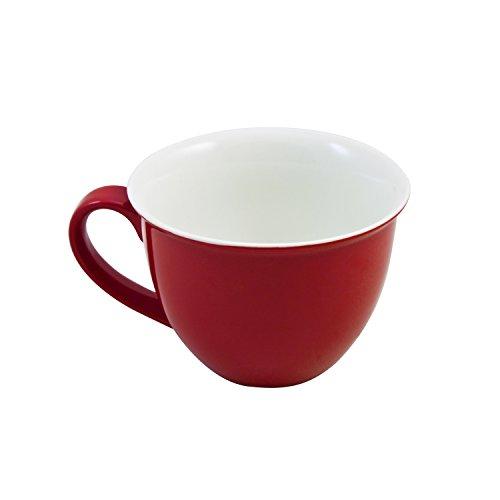 Flirt by R&B 515558 Doppio Jumbo-Obere/Kaffeetasse 350 ml, Porzellan, rot (1 Stück)