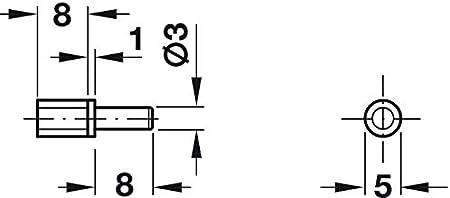 Regalstift zum Einstecken FIX PRO Gedotec Fachbodentr/äger Holz-Boden Winkel-Regal-Bodentr/äger /Ø 5 mm Regalst/ütze f/ür M/öbel Regalboden-Tr/äger Stahl schwarz matt 10 St/ück Stift mit Steckzapfen