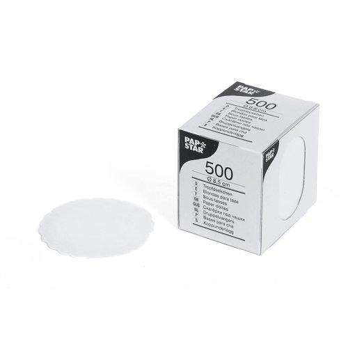 Tassendeckchen Papieruntersetzer Untersetzer rund Ø 8,5 cm Glas Bar Tresen Menge : 2500 St