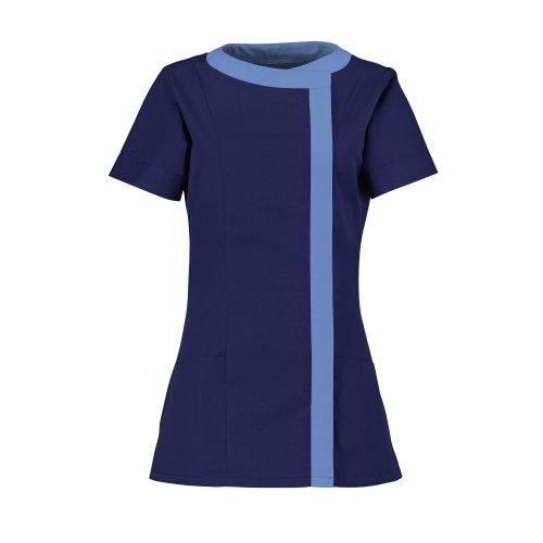 Túnica asimétrica para mujer, de la marca Alexandra, ropa médica/belleza y salud Azul Navy/ Metro 36