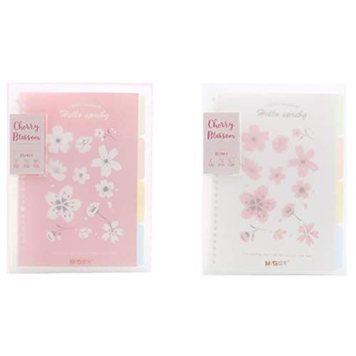 XXT Engrosamiento de la libreta de Hojas Sueltas Libro Sakura de Hojas Sueltas Encuadernación Student Book Bloc de Notas