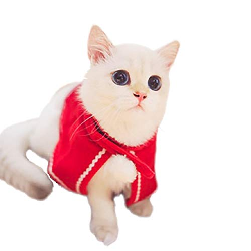 Bluelucon Hond Winter Jacket Coat capuchon Kerstman kostuum Kerstmis omhang mantel kat pet winter jas