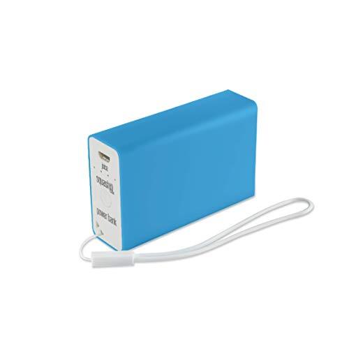 Juice Squash XL Fast Charge Mini Portable Power Bank iPhone, Samsung, Huawei, iPad, 5600 mAh, Aqua