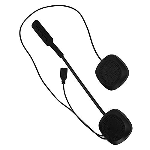 Auriculares inalámbricos para casco de motocicleta, Auriculares estéreo inalámbricos con Bluetooth 5.0 manos libres para casco, Auriculares deportivos impermeables para motocicleta con micrófono