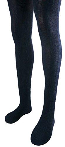 Shimasocks Damen Strumpfhose Zopfmuster SLIM FIT, Farben alle:marine, Größe:44/46