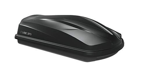 VDP dakkoffer/bagagebox/dakkoffer/autobox Cube 370 liter zwart glanzend