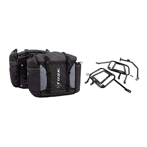 Tusk OLYMPUS Dual Sport Adventure Motorcycle Pannier Bags with Tusk Racks - Includes Neck Gaiter - Fits: HONDA AFRICA TWIN CRF1000L 2018+