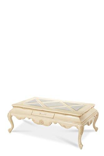 Michael Amini Lavelle Rectangular Cocktail Table, Blanc
