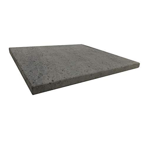 Plaque réfractaire pour pizza en pierre de lave de l'Etna 39x35x2 cm – Fabriqué en Italie Sicile - pour Four Traditionnel au Bois Barbecue Grill et Charbon