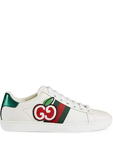Luxury Fashion | Gucci Dames 611377DOPE09064 Wit Leer Sneakers | Lente-zomer 20