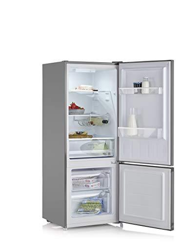 SEVERIN KGK 8973 - Frigorífico y congelador (153 L/52 L, Low Frost, acero inoxidable, clase energética E)