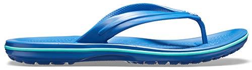 Crocs Crocband Flip Flop   Slip-on Sandals   Shower Shoes, Blue Jean/Pool,...