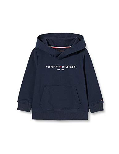 Tommy Hilfiger Jungen Essential Hoodie Pullover, Blue, 10