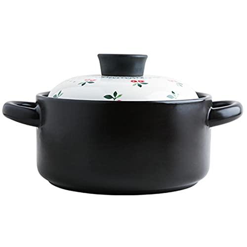 Lera matlagningsgryta gryta gryta gryta soppa gryta kakel gryta Sakura keramik hög temperaturbeständig – 2,5 l
