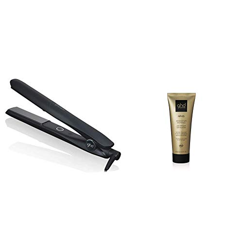 ghd gold Styler, professionelles Glätteisen mit optimaler Stylingtemperatur, schwarz + Rehab - advanced split end therapy