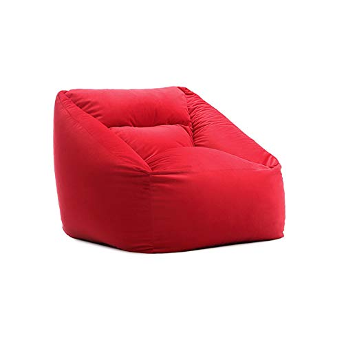 BeanBags Indoor Outdoor Water Resistant Bean Bags Bean Bag Bazaar Panelled Classic Bean Bag Chair for Home Garden Living Room (Color : Red, Size : One size)
