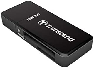 Transcend TS-RDF5K USB 3.0 SDHC/SDXC/microSDHC/SDXC Card Reader, Black
