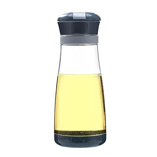 Rabuet Botella de cristal con cuentagotas automática Open No para aceite de cocina, vinagre o dosificador, 700 ml