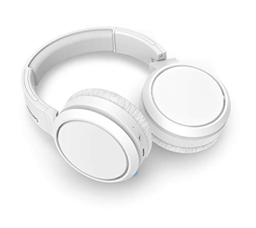 Philips Audio TAH5205WT/00 Over-Ear Kopfhörer Bluetooth mit Mikrofon und BASS Boost-Taste (Wireless, 29 Stunden Wiedergabezeit, Schnellladefunktion, Geräuschisolierung) Weiß - 2020/2021 Modell