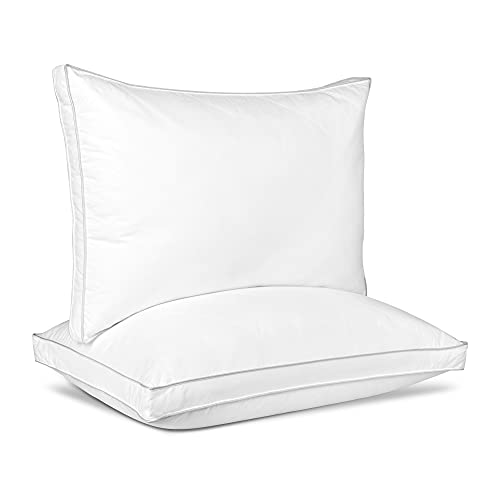 King Size Supportive Gusseted Pillows for Sleeping...