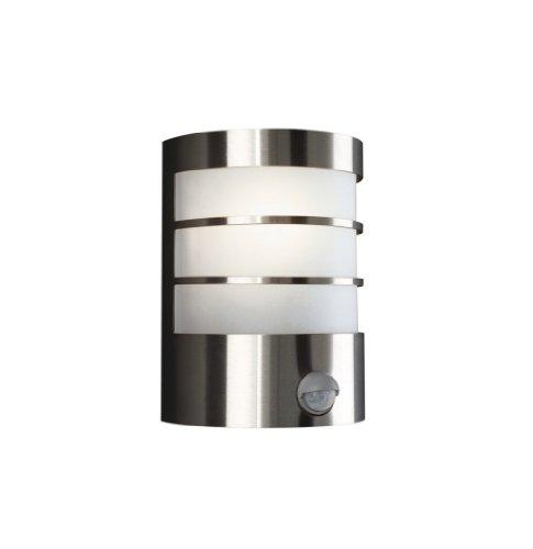 Philips myGarden Wandaussenleuchte Calgary 60W, Bewegungsmelder Metall E27 Edelstahl 170264710