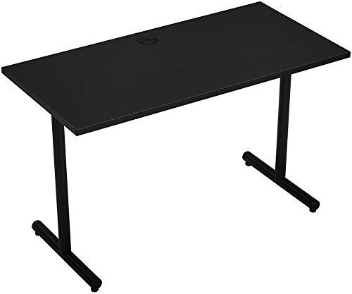 "Desks for Home Office 47 inch Desk,Modern Writing Table, 0.98"" Thick Tabletop Study Desk, Black"