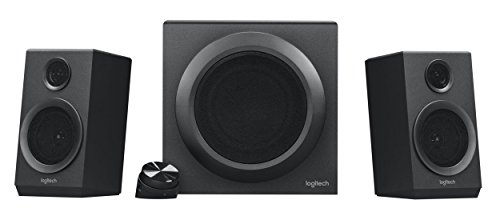 Logitech Z333 2.1 luidsprekersysteem met subwoofer, rijke bas, 80 watt piekvermogen, 3,5 mm & cinch-ingangen, Multi Device, regeleenheid, UK stekker, pc/PS4/Xbox/TV/smartphone/tablet