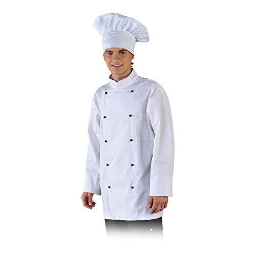 Leber&Hollman LH-CHEFER_WL Chefs Kitchen Schutzbluse, Weiß, L Größe
