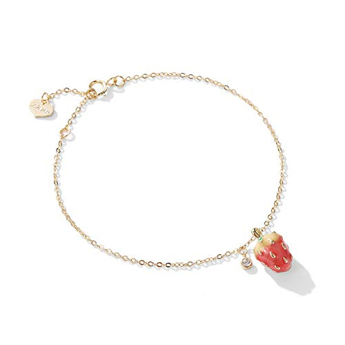 Small strawberry bracelet student simple personality cute hundred set girl's heart hand jewelryAretes Pendientes aro Aretes Muje Regalo para Madre, r
